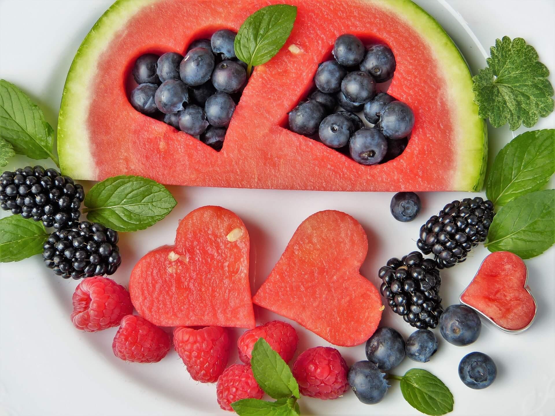 Wassermelone und Quellwasser gemixt